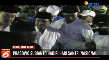 Dalam sambutannya, Prabowo menyatakan tak akan menyia-nyiakan dukungan yang diberikan ulama, habaib, dan para santri.