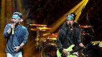Grup band Wali tampil dalam konser Asa Untuk Gaza di Studio Penta, Jakarta, Kamis (24/7/14). (Liputan6.com/Andrian M Tunay)