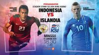 Indonesia vs Islandia  (Liputan6.com/Abdillah)