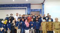 Pemerintah Kota Prabumulih bersama jajaran pengurus PWI menyambangi Pemkot Bengkulu untuk berdiskusi dan belajar banyak hal. (Liputan6.com/Yuliardi Hardjo)