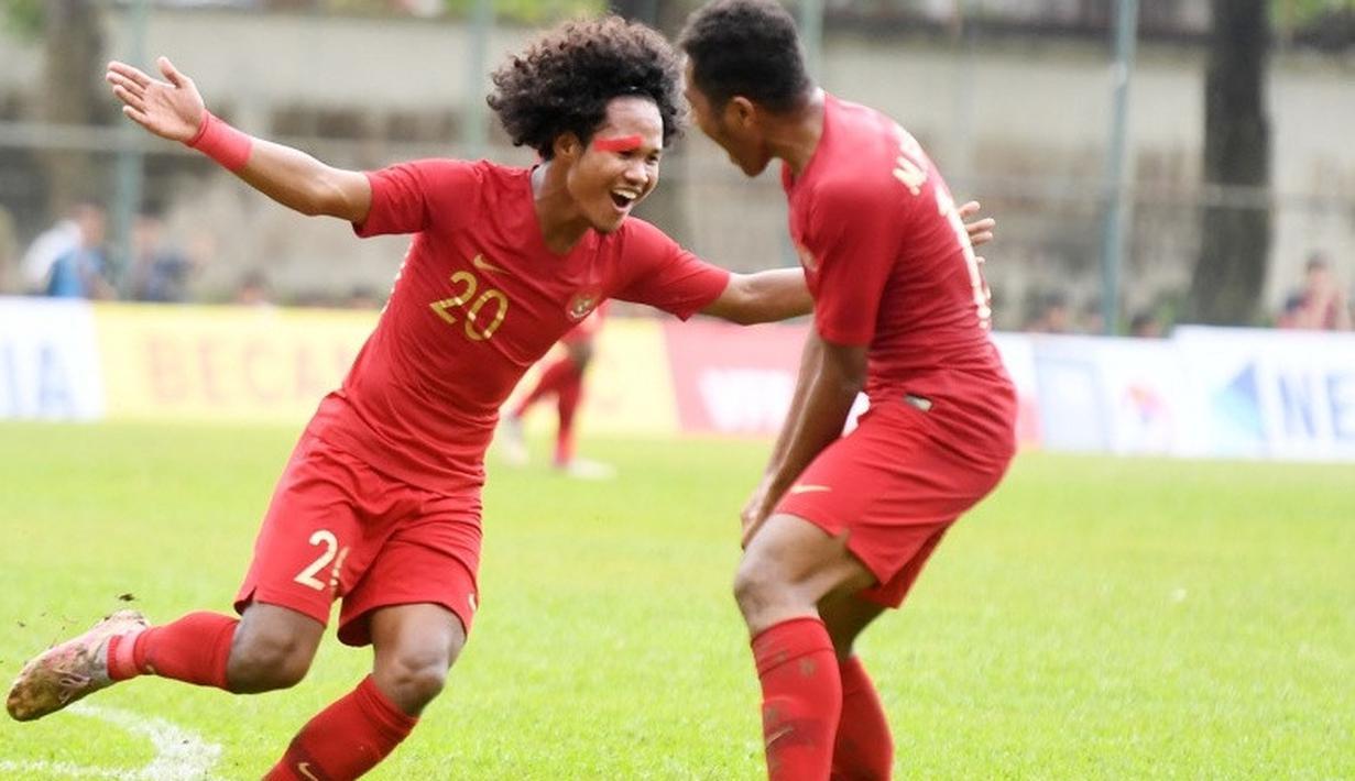 Penyerang Timnas Indonesia U-18, Bagus Kahfi, mendapatkan kesempatan berlatih bersama tim senior. (dok. PSSI)