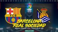 La Liga - Barcelona Vs Real Sociedad (Bola.com/Adreanus Titus)