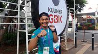 Karateka Indonesia yang akan turun di Asian Games 2018, Ahmad Zigi Zaresta. (Bola.com/Yus Mei Sawitri)