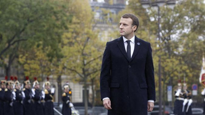 Presiden Prancis Emmanuel Macron. (AP/Thibault Camus)