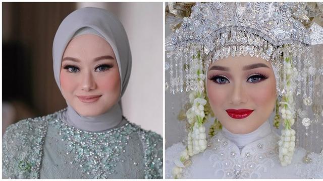 6 Potret Detail Makeup Dinda Hauw Dari Lamaran Hingga Resmi Menikah Hot Liputan6 Com