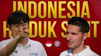 Timnas Indonesia - Timnas Indonesia U-19 Vs Hajduk Split U-19 - Head to Head Pelatih (Bola.com/Adreanus Titus)