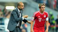 NASIB - Kapten Bayern Munchen, Philipp Lahm, menyebut nasib timnya berada di tangan Pep Guardiola. (Bild)