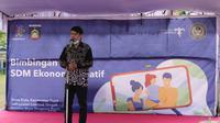 Toar RE Mangaribi, Analis Kabijakan Ahli Madya/Koordinator Edukasi III Direktorat Pengembangan SDM Ekraf - Kemenparekraf saat membuka Bimtek (istimewa)