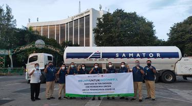 PT Pupuk Indonesia (Persero) mengirimkan bantuan total 96 ton oksigen untuk perawatan pasien Covid-19 di Jawa Tengah, Yogyakarta, Jakarta, dan Bandung.