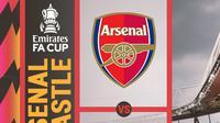 Piala FA - Arsenal Vs Newcastle United (Bola.com/Adreanus Titus)