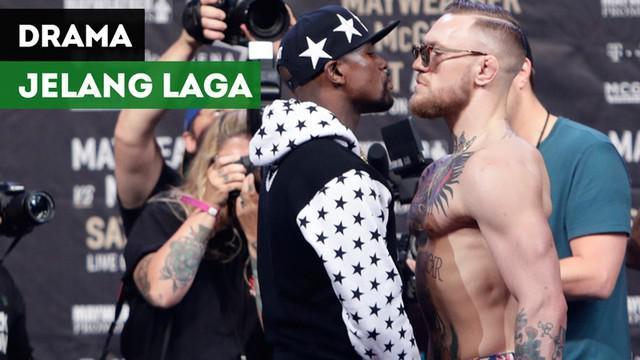 Berita video drama-drama yang terjadi jelang laga yang dinanti pada 2017, Floyd Mayweather melawan Conor McGregor yang akan digelar 26 Agustus 2017.