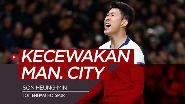 Berita video pemain Tottenham Hotspur, Son Heung-min, tidak hanya sekali ini saja membuat Manchester City kecewa.