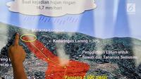 Kepala Pusat Data Informasi dan Humas BNPB Sutopo Purwo Nugroho memberikan keterangan pers di Kantor BNPB, Jakarta, Rabu (2/1). Hingga pagi tadi, tercatat 15 orang meninggal dunia akibat longsor Sukabumi. (Liputan6.com/JohanTallo)