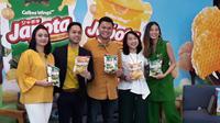 Japota meluncurkan keripik kentang asli dengan 2 varian rasa; Umami Japanese Seaweed dan Happy Honey Butter (Liputan6.com/Komarudin)