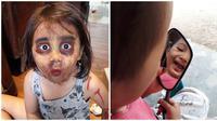 Kelakuan Anak-Anak Saat Makeup Ini Bikin Ketawa Ngakak (sumber:Instagram/biibiid_prastyo)