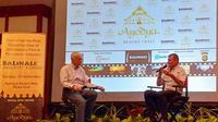 Roland Joffe dan Patrick Frater, editor Variety di Balinale-X Film Forum pada 23 Sept 2018  di Ayodya Resort, Nusa Dua, Bali. (Istimewa)