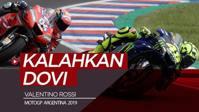 Berita video hasil balapan MotoGP Argentina 2019 di mana Marc Marquez menjadi juara pada seri ini dan Valentino Rossi memenangi duel dengan Andrea Dovizioso.