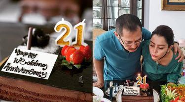 7 Momen Anniversary Pernikahan ke 21 Mayangsari, Selalu Kompak Bersama Keluarga