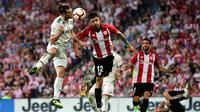 Real Madrid harus puas bermain 1-1 kontra Athletic Bilbao pada laga pekan keempat La Liga Spanyol, di Estadio San Mames, Sabtu (15/9/2018) malam WIB. (AP Photo/Alvaro Barrientos)