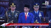 Presiden RI Jokowi berpidato dalam Sidang Tahunan MPR 2018.