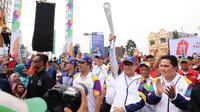 Ketua MPR RI, Zulkifli Hasan (Zulhasan), dipercaya menjadi tamu kehormatan untuk menyambut dan mengarak api obor Asian Games (Istimewa)