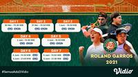 Live Streaming Grand Slam Tennis Roland Garros di FOX Sports Eksklusif Melalui Vidio Pekan Ini. (Sumber : dok. vidio.com)