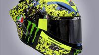 Helm Valentino Rossi untuk balapan MotoGP Emilia Romagna 2021 di Sirkuit Misano, San Marino. (MotoGP)