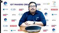 Dirjen SDPPI Kemkominfo Ismail berbicara tentang inovasi IoT yang bisa dimanfaatkan untuk membantu kinerja di tengah pandemi (Liputan6.com/ Agustin Setyo W)