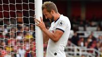 Kane dikabarkan memiliki keinginan saat menutup kariernya nanti dengan setidaknya meraih satu trofi mayor selepas melewatkan kesempatan mengangkat titel Liga Champions musim 2018/19. (AFP/Ben Stansall)