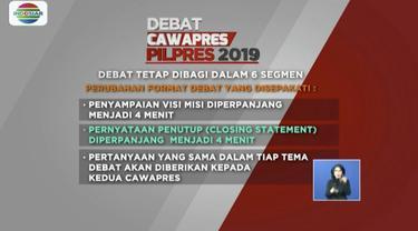 Jelang debat ketiga, KPU dan kedua timses paslon sepakat batasi jumlah penonton di lokasi dan tidak ada lagi pertanyaan dalam bentuk video.