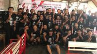 Relawan Jokowi Deklarasikan Gerakan Nasional T3Tap Jokowi untuk hadapi Pilpres 2019. (Liputan6.com/Dian Kurniawan)