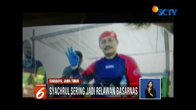 Syachrul Anto, relawan Basarnas Lion Air jatuh yang gugur karena dekompresi, diketahui baru saja pulang bertugas dari aksi kemanusiaan bencana gempa dan tsunami di Palu.