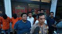 Polisi rilis 6 tersangka baru penygeroyok Haringga Sirla (Liputan6.com/Huyogo Simbolon)