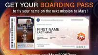 Boarding Pass ke Mars. (NASA)