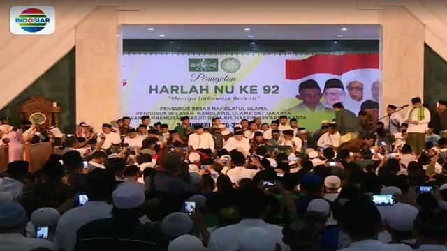 Menteri Agama, Lukman Hakim Saifuddin mengungkapkan, Nahdlatul Ulama selalu bersikap moderat, toleran dan senantiasa menjunjung persaudaraan