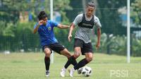 Pelatih Timnas Indonesia, Shin Tae-yong, menyebut timnya masih perlu pembenahan usai menggelar laga uji coba internal, Sabtu (27/2/2021). (dok. PSSI)