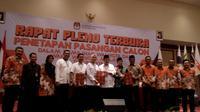 Tiga pasangan calon Pilkada Kota Malang, Jawa Timur, ditetapkan dalam pleno terbuka KPU setempat (Liputan6.com/Zainul Arifin)