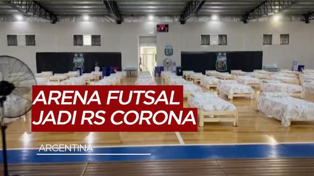 Berita Video Demi Tangani COVID-19, Lapangan Futsal di Argentina Disulap Menjadi Rumah Sakit