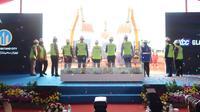 Proyek pabrik kaca terbesar se-ASEAN di Kawasan Industri Terpadu (KIT) Batang. (Dok. PTPP)