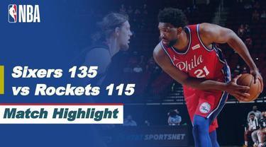 Berita video highlights NBA pertandingan antara Philadelphia 76ers melawan Houston Rockets, Kamis (6/5/2021).
