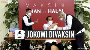 Presiden Jokowi sampaikan pidato setelah terima vaksin Covid-19. Apa penjelasan Presiden Joko Widodo setelah teriima Vaksin Covid-19?