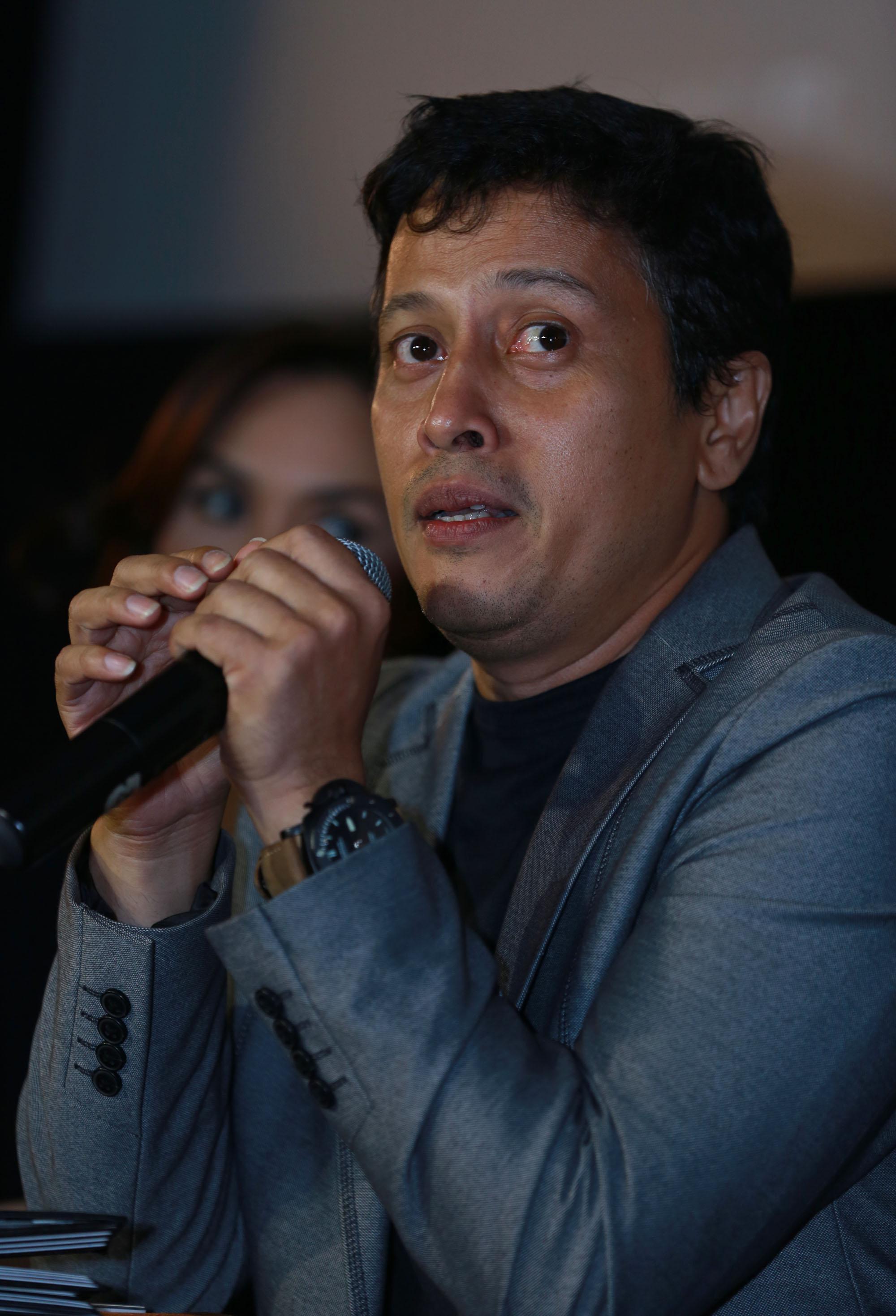 Sutradara Jose Poernomo di premier film 'Tarot'. Foto: M. Akrom Sukarya/Bintang.com