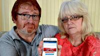 Karena kesalahan aplikasi telepon genggam, pasangan ini dianggap batal menang lotere. Kecewa,
