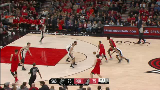 Berita video game recap NBA 2017-2018 antara Portland Trail Blazers melawan San Antonio Spurs dengan skor 111-110.