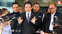 Marzuki Ali juga dikonfirmasi tentang adanya dugaan aliran dana yang diterima 3 calon Ketua Umum Partai Demokrat pada kongres tahun 2010(Liputan6.com/ Abdul Aziz Prastowo)