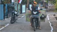 Sugeng Suroso, ayah Imron Ichwani, yang kesehariannya bekerja sebagai tukang bubur. (KRJogja.com/Totot R)