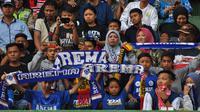 Suporter Arema FC, Aremania. (Bola.com/Iwan Setiawan)