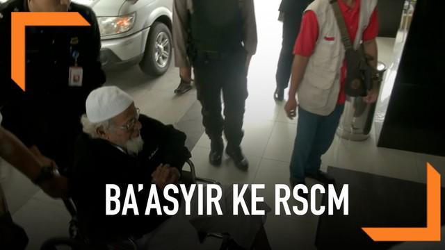 Abu Bakar Ba'asyir dibawa ke Rumah Sakit Cipto Mangunkusumo. Ia tiba di RSCM selasa pagi bersama tim pengacaranya. Ada apa?