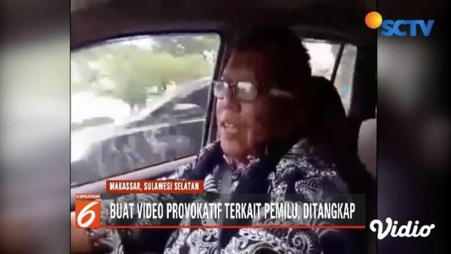 Polda Sulsel tangkap Samiun Ahmad  pembuat dan penyebar video berisi hoaks kerusuhan 22 Mei untuk melawan rezim Joko Widodo.