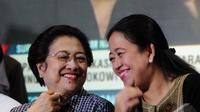 Megawati Soekarnoputri dan Puan Maharani tertawa bahagia sambut Jokowi-JK (Liputan6.com/Andrian M Tunay)